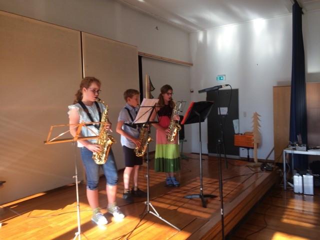 Klassenvorspiel Trompete und Euphonium, Schlagzeug und Saxophon